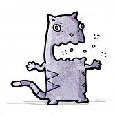 foto of belching  - cartoon belching cat - JPG