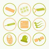 foto of contraceptives  - Set of icons on a theme contraception - JPG