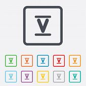 stock photo of roman numerals  - Roman numeral five sign icon - JPG