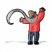 pic of long beard  - cartoon man with long beard - JPG