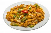 picture of kadai  - Channa Masala � isolated on white background ** Note: Visible grain at 100%, best at smaller sizes - JPG