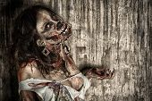 stock photo of zombie  - Close - JPG