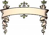 stock photo of fussy  - Fussy Victorian style scroll banner - JPG