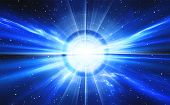 picture of space stars  - Time warp traveling in space with stars - JPG