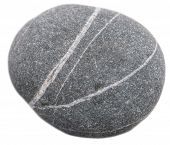 picture of dapple-grey  - round stone isolated on a white background - JPG