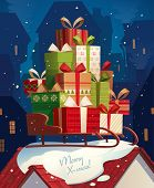 picture of santa sleigh  - Santa - JPG