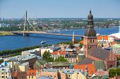 image of doma  - Aerial view of Riga - JPG