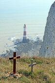 Beachy Head England - Suicide capital of europe poster