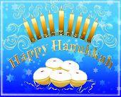 stock photo of menorah  - Hanukkah greeting card  - JPG