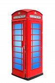 picture of phone-booth  - Classic British red phone booth in London UK - JPG