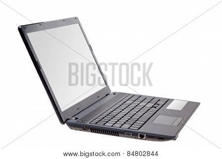 Electronic Collection - Modern Laptop Isolated On White Background