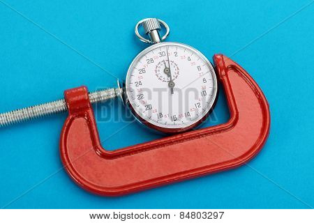Adjustable Clamp And Stopwatch