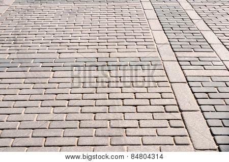 Stone Block Paving ,floor Background