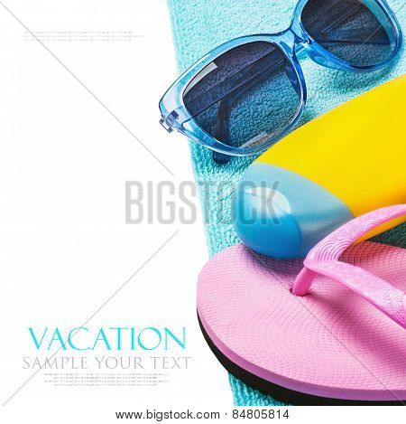 Things For A Beach Holiday Isolated