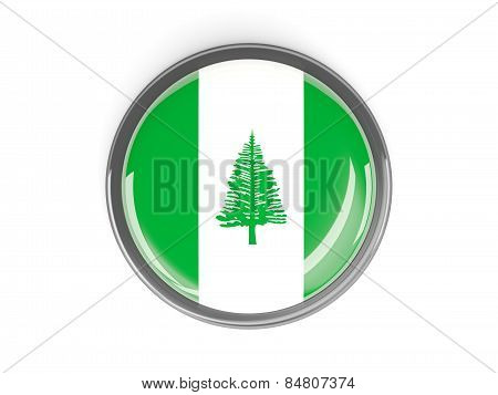 Round Button With Flag Of Norfolk Island
