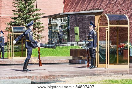 Honor Guard Standing Near Eternal Fire