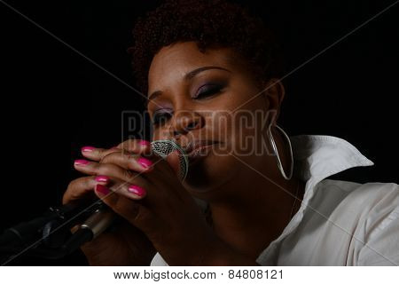 Nice image of a Jazz Singer On Black