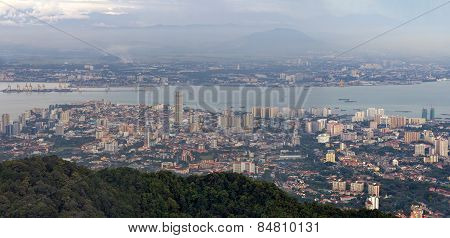 George Town Penang Malaysia Aerial View