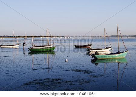 Boats Moored At Emsworth.
