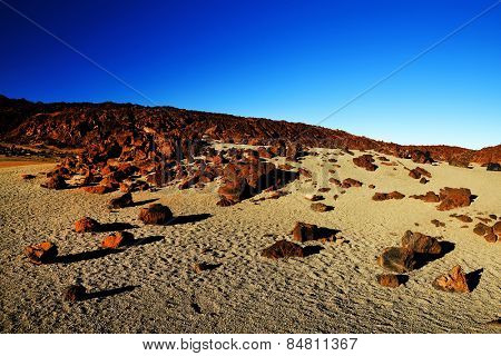 Lunar landscape in Teide National Park, Tenerife, Canary Islands, Spain