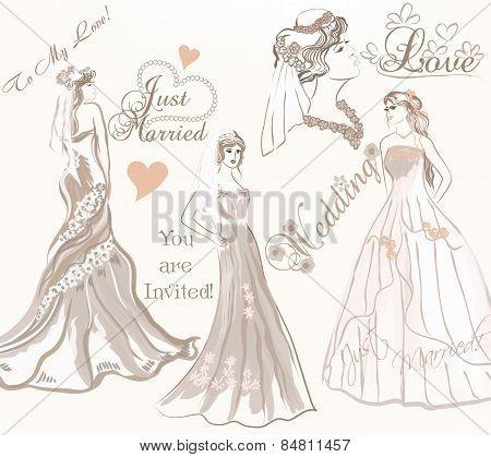 Beautiful Bride Set For Wedding Design