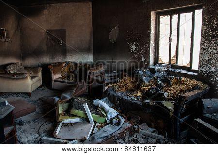 Burned Appartment In Al Khobar, Saudi Arabia
