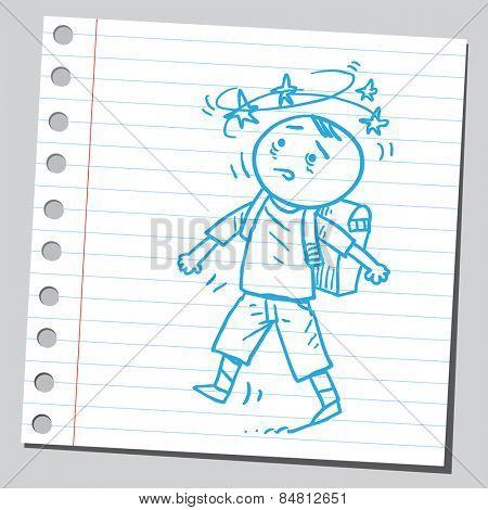 Dizzy schoolkid