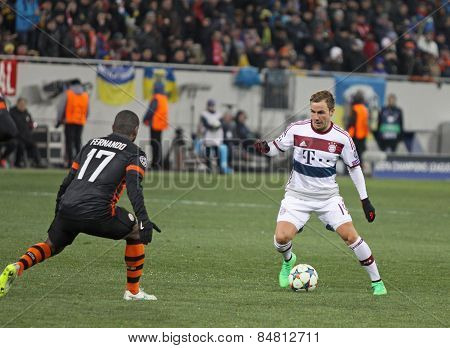 Football Game Shakhtar Donetsk Vs Bayern Munich