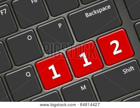 Computer Keyboard With 112 Emergency Number