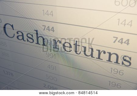 Cash returns