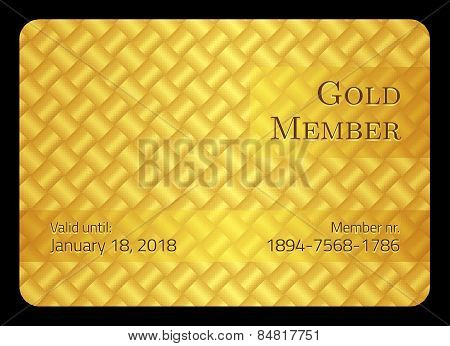 Golden Member Card With Modern Pattern