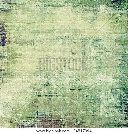Art vintage background with space for text and different color patterns: yellow (beige); brown; gray; green