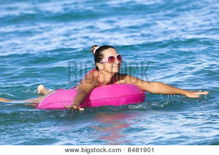 Woman On Inner Tube