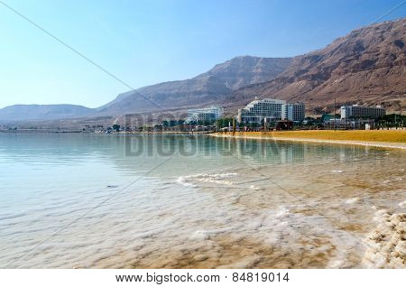 Israel, Dead Sea, Ein Bokek Hotel District