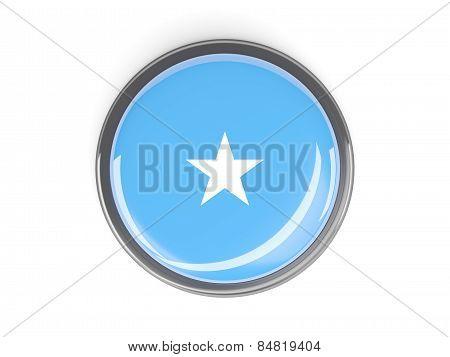 Round Button With Flag Of Somalia
