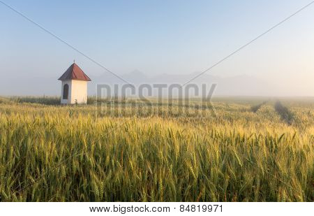 Slovakia Countryside With Chapel