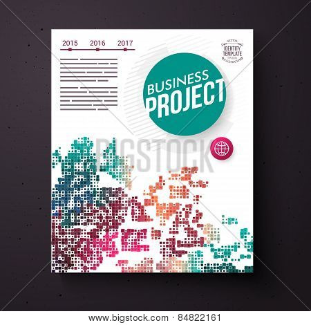 Colorful business project design template