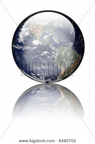 Earth As Glass Globe