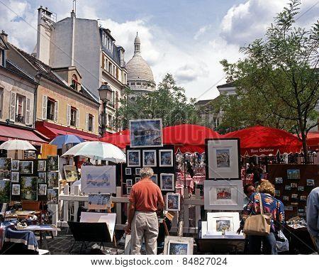 Souvenir stalls, Paris.