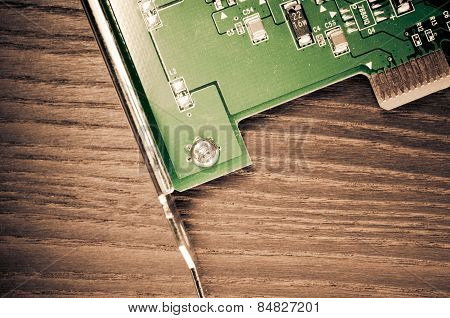 Green Printed Circuit Board Deatil