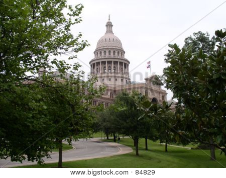 Texas Capitol At Austin, Texas