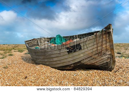 Old Weathered Fishing Boat