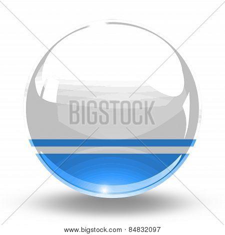 3D, crystal sphere Altai Republic