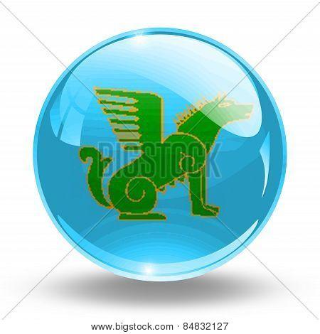 3D, crystal sphere the Nogai people