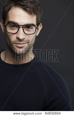 Portrait of mid adult man wearing glasses