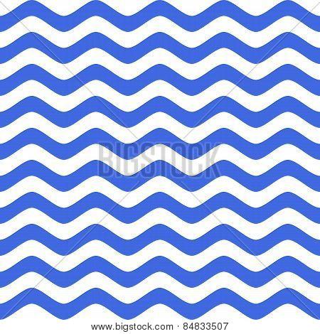 Blue Wavy Chevron Seamless Pattern