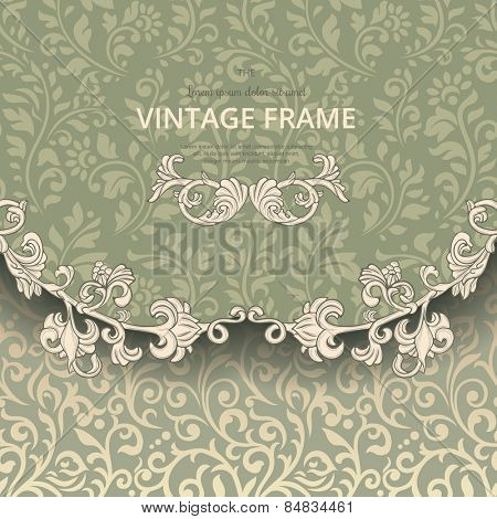 Vintage background on flourish pattern