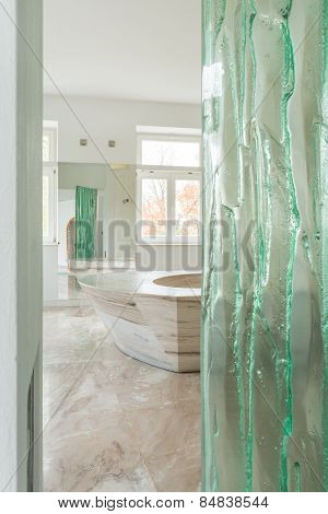 Expensive Interior With Marble Floor