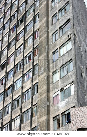 Rundown Facade In Sao Paulo