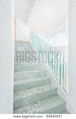 Marble Stairs In Bright House